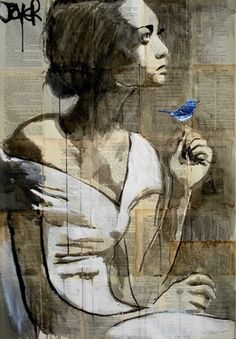 "Saatchi Online Artist Loui Jover; Drawing, ""avian"" #art- seriously. Loui Jover is my new FAVORITE artist"