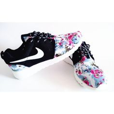 meet 43ae7 0f08c Nike Roshe Run London Olympics Trainers Floral Black Mens Womens Crystal  Shoes, Blue Shoes,