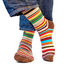 Paul Smith socks. Derek bought 2 pair after reading 'statement socks' were trendy in Silicon Valley.