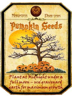Halloween Pumpkins Seeds Label
