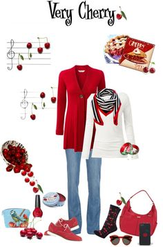 """Very Cherry"" by mchankins ❤ liked on Polyvore"