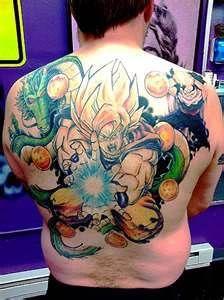 Goku Gohan Shenron Back Dragon Ball Tattoo. I LOVE this!