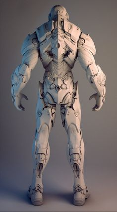 ArtStation - Nvidia Soldier, by Mike Jensen More robots here.