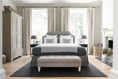 Chichester bed frame with Arthur footstool and Eva headboard #Neptune #bedroom www.neptune.com