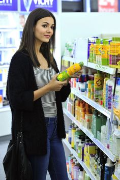 Victoria Justice is spotted shopping for Alba Botanica Hawaiian SPF 50 Clear Spray Sunscreen at Whole Foods in Los Angeles, June 1, 2015.