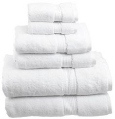 Superior 900 GSM Luxury Bathroom Towel Set, Made of Premium Long-Staple Combed Cotton, 2 Hotel & Spa Quality Washcloths, 2 Hand Towels, and 2 Bath Towels - White - List for Home and Garden Products Best Bath Towels, Bath Towel Sets, Hand Towels, Guest Room Essentials, Egyptian Cotton Towels, Towel Rack Bathroom, Towel Racks, Face Towel, White Towels