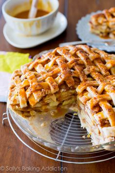 Salted Caramel Apple Pie. The holy grail of caramel apple desserts! Click for easy-to-follow instructions.