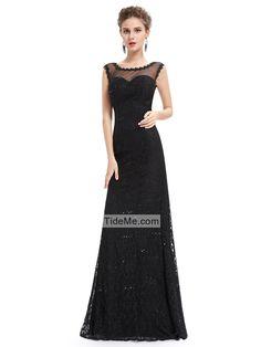 Black Lace Off Shoulder Low Back Mermaid Floor Length Gorgeous Long Prom Dress