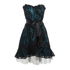 short dark green formal dresses | Black and green lace prom dress | Shop fashion, apparel| Kaboodle