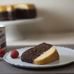 Flan Bundt Cake /Flan Impossible (sugar, egg yolks, sweetened condensed milk, evaporated milk, devil's food cake mix)