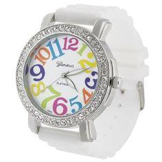 Amazon: Geneva Large Face Silicone Watch Just $6.49!