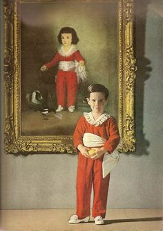 The Little Boy in Red by John Rawlings, Vogue December 1. 1962