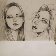 My Girls ❤ #sketch #sketchbook #moleskine #draw #desenho #rabisco #dibujo #girls #meninas #ilustração #illustration #art #drawing #instaart - instagram.com/kelcerruti