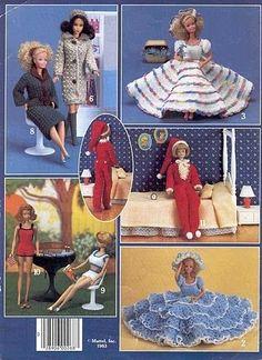 Free Barbie Crochet Clothes Patterns