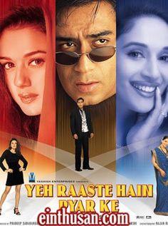 Yeh Raaste Hain Pyaar Ke Hindi Movie Online - Ajay Devgan, Madhuri Dixit and Preity Zinta. Directed by Deepak Shivdasani. Music by Sanjeev Darshan. 2001 [U]