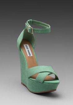71f86ce6041 Steve Madden Xenon Wedge in Mint Mint Green Shoes