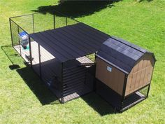 The Ultimate Kennel Barn is a fully insulated elevated large breed dog house. : The Ultimate Kennel Barn is a fully insulated elevated large breed dog house. This dog house can be used with any model of kennel store dog kennel. K9 Kennels, Dog Kennels For Sale, Diy Dog Kennel, Kennel Ideas, Outdoor Dog Area, Outdoor Dog Kennel, Backyard Dog Area, Outdoor Ideas, Portable Dog Kennels
