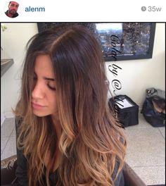 #hair #ombre #curl #wave #cut