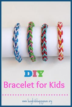 "Intertwining Chain Video Tutorial.  Meet the Busy Kid (age 9) as he describes how to make his Rainbow Loom bracelet called ""Intertwining Chain""."