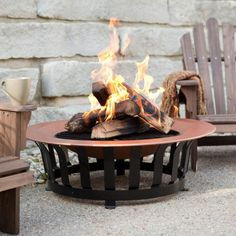 Enhance every outdoor atmosphere with this Copper Enamel Fire Pit. Perfect for any outdoor spaces and places. Outdoor Seating, Outdoor Spaces, Outdoor Living, Outdoor Decor, Converted Shed, Fire Pits For Sale, Copper Fire Pit, Tiki Torches, Fire Table