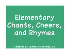 A fun, motivating way to start the day! A collection of 20 short chants, cheers, and rhymes for students to read in unison on a blackboard backgrou...