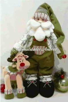 Imágen: Papa noel verde con reno