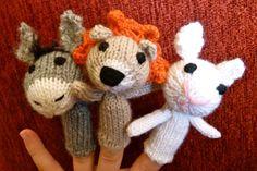 Marionnettes à doigts, Les Petits peluches tricotées