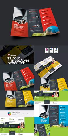 Fitness  Gym Bifold Brochure Template Indesign Indd  Us Letter