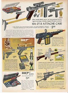 atomic-flash: Tactical And Secret Agent Weapons For Kids Page - 1966 Sears Christmas Catalog SEARS (via existential-ensuite) Tv Vintage, Vintage Posters, Vintage Shoes, Vintage Fashion, Gi Joe, Kids Pages, Retro Toys, 1960s Toys, Old Ads