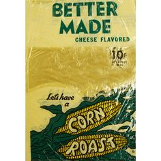 Vintage Bag of #BetterMade Cheese Flavored Corn Roast #BetterMade85Years