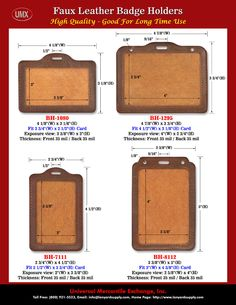 Leather ID Holders For Fashion IDs or ID Badges