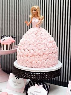 34 Royally Gorgeous Princess Birthday Cakes We Love....My mom used to make me doll cakes every year growing up for my birthday!