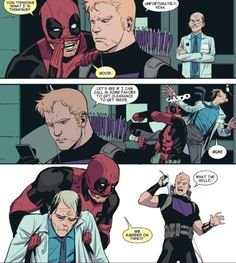 Clint should never assume he and Deadpool are on the same page. Hawkeye vs. Deadpool 1
