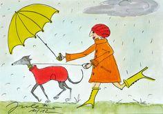 cute greyhound illustration