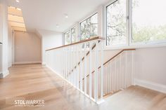 Home Stairs Design, House Design, Stairway Railing Ideas, White Stairs, House Stairs, New Home Designs, Stairways, Kitchen Decor, New Homes