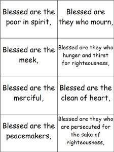 Punchy image in beatitudes printable