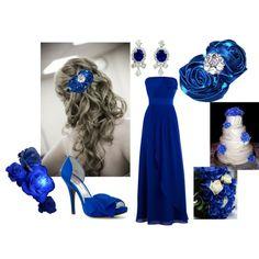 THREE Royal BLUE Rose Hair Clips Horizon Blue Wedding by tweeterj ...