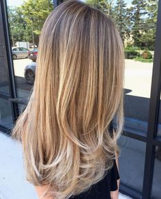 Long Bronde Hair with Golden-Blonde Balayage and Chunky Short Layers… Long Bronde Hair with Golden-Blonde Balayage and Chunky Short Layers http://www.nicehaircuts.info/2017/05/22/long-bronde-hair-with-golden-blonde-balayage-and-chunky-short-layers/