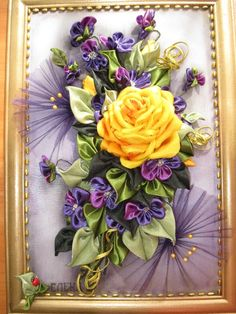 Ideas for handmade - Pano in the technique kanzashi (15 pictures). More ideas: http://wonderdump.com/ideas-for-handmade-pano-in-the-technique-kanzashi-15-pictures/