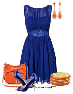 """""""Cobalt Blue"""" by amo-iste ❤ liked on Polyvore featuring Little Mistress, RED Valentino, Pim + Larkin, Fernando Jorge and Nine West"""