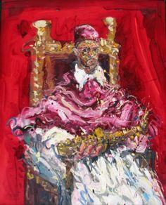 "Jazzamoart ""Chencho sax"" (Bacon), 2011 óleo sobre tela 100 x 80 cm."