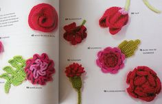 crocheted crazy flowers :)