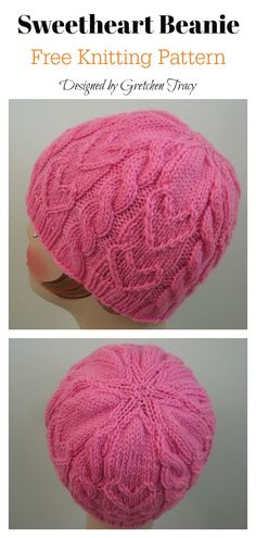 Sweetheart Beanie Free Knitting Pattern This Sweetheart Beanie is filled with cute cables and happy hearts. This adorable Sweetheart Beanie Free Knitting Pattern is the perfect project to knit for your sweetie. Beanie Knitting Patterns Free, Beanie Pattern Free, Free Knitting, Baby Knitting, Free Pattern, Crochet Patterns, Knitting Hats, Scarf Patterns, Chemo Caps Pattern
