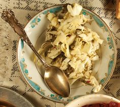 These spicy cabbage pickles, or torshi-e kalam, offset the richness of roasted meat.