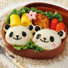 Kids Meals Home Kitchen Lovely Panda Shape Diy Sushi Mould Bento Rice Ball Onigiri Mold Panda Sushi, Panda Food, Bento Box Lunch For Kids, Cute Lunch Boxes, Diy Sushi, Sushi Maker, Kawaii Bento, Boite A Lunch, Bento Recipes
