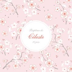 faire part de bapteme Cerisiers en fleurs by Mr & Mrs Clynk pour www.fairepartnaissance.fr #baptism #announcement #rosemood