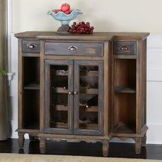 Uttermost Suzette Wood Wine Cabinet