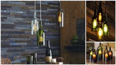 Wine bottle chandelier...