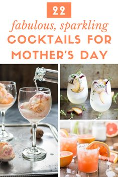 22 Fabulous, Sparkling Cocktails to Make for Mom on Mother's Day | the INSPIRED home #cocktailrecipes