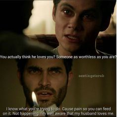 Derek and Stiles are married, but Stiles is possessed by the Nogitsune, but Derek knows his husband loves him.